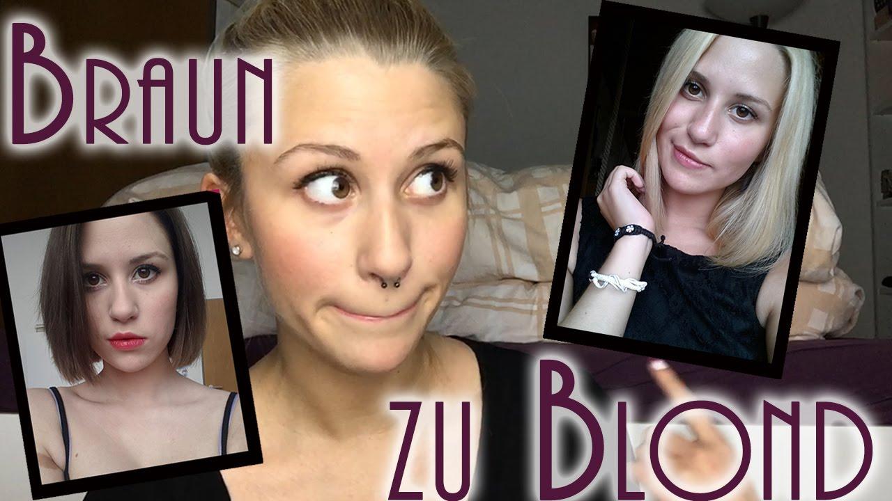 braun zu blond vorher nachher meine erfahrung haar fail mylifeasnina youtube. Black Bedroom Furniture Sets. Home Design Ideas