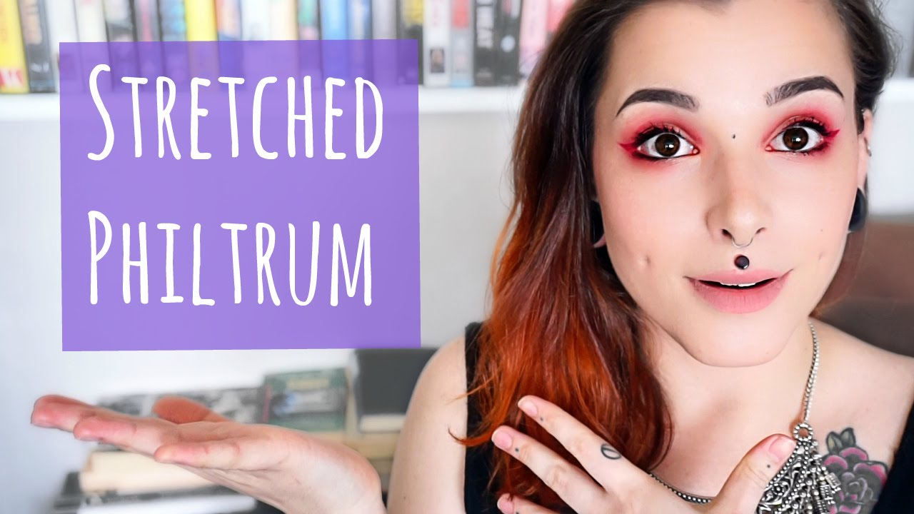 All About My Stretched Philtrum Medusa Piercing Youtube