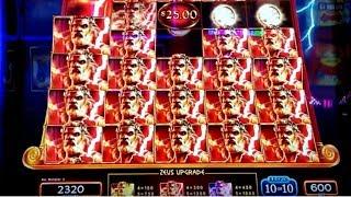 ZEUS UNLEASHED Slot Machine Max Bet Bonus & BIG WINS - GREAT SESSION | Live Slot Play w/NG Slot