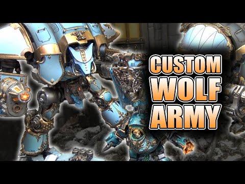 Army Of Fenris. Dark Bunny Wolf Knight & Walker Showcase