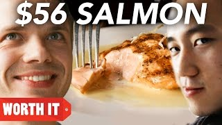 Repeat youtube video $8 Salmon Vs. $56 Salmon