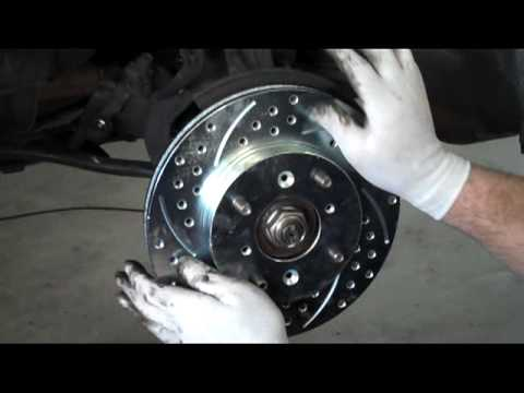 FITS MAXIMA  2009-2012 FRONT BLACK HART DRILLED SLOTTED BRAKE ROTORS