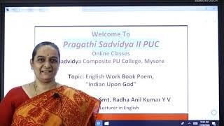 II PUC | English | Indian upon God