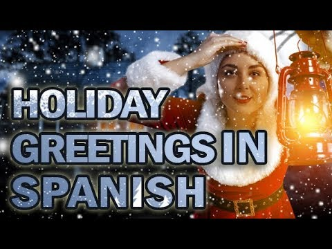 spanish holiday christmas and new year greetings voiced by gritty spanish voice actress