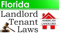 Florida Landlord Tenant Laws | American Landlord