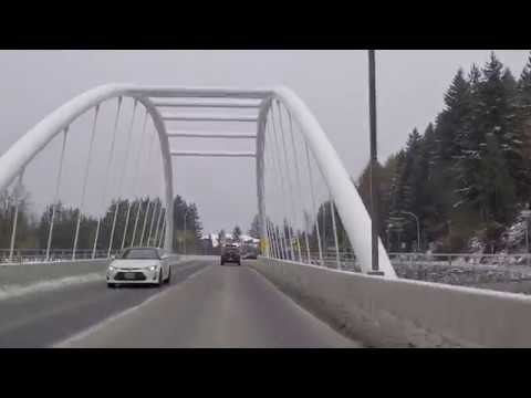 Chilliwack BC Canada - South Area near Mountains - Driving in City/Countryside