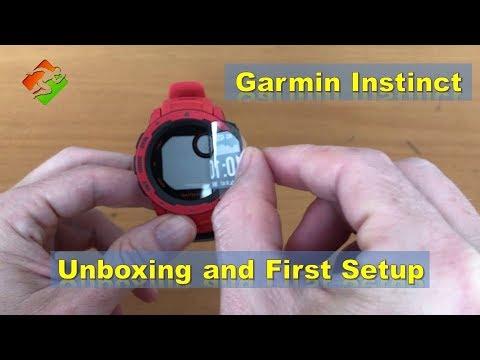 Garmin Instinct - Unboxing and First Setup