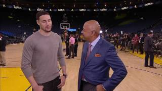 """Klay Thompson after Game 2 win """"I"""