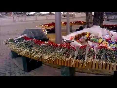 """Сходил к """"Зимней вишне"""" Строительство сквера в память о погибших началось. (02.04.2019)"""