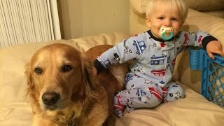 Baby Escape Artist--With Dog Assist!!