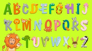 The ABC Song + Funny Animals | Learn The English Alphabet | English Songs for Children