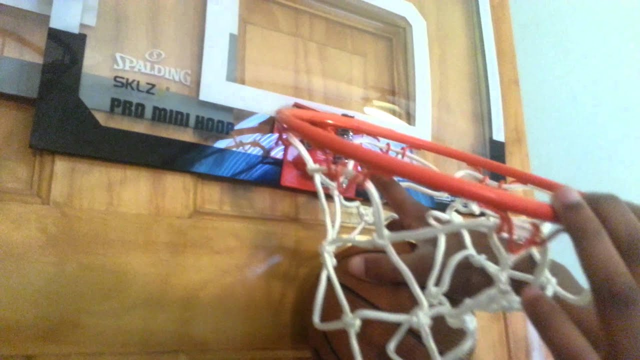 Spalding basketball hoop set up