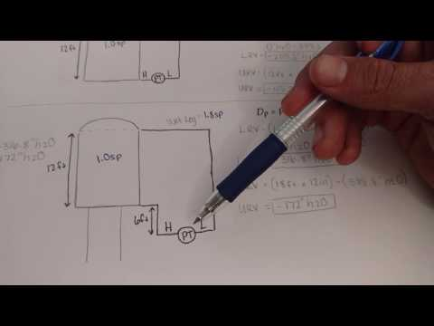 How to obtain the LRV and URV for a differential pressure transmitter.