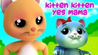 Котенок Котенок Да Мама | мультяшная рифма | детская песня | Kitten Kitten Yes Mama | Farmees Russia