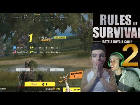 NoahFromYoutube and Ferg Get Another Duo Win in Rules Of Survival ! Best YouTube Duo in The Game ?