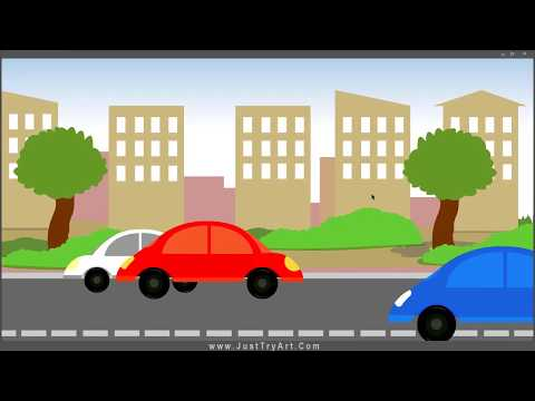 2D Background With Car Animation | Adobe Animate Tutorial