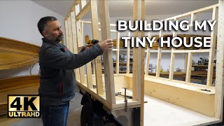 Building My Tiny House On Wheels   ⭐️4k Video ⭐️