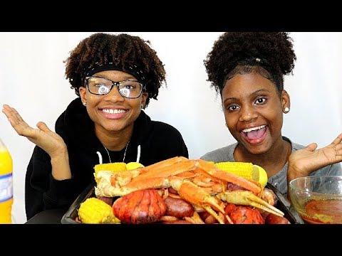 SEAFOOD BOIL MUKBANG!  (KIDS EDITION) LETS EAT!!