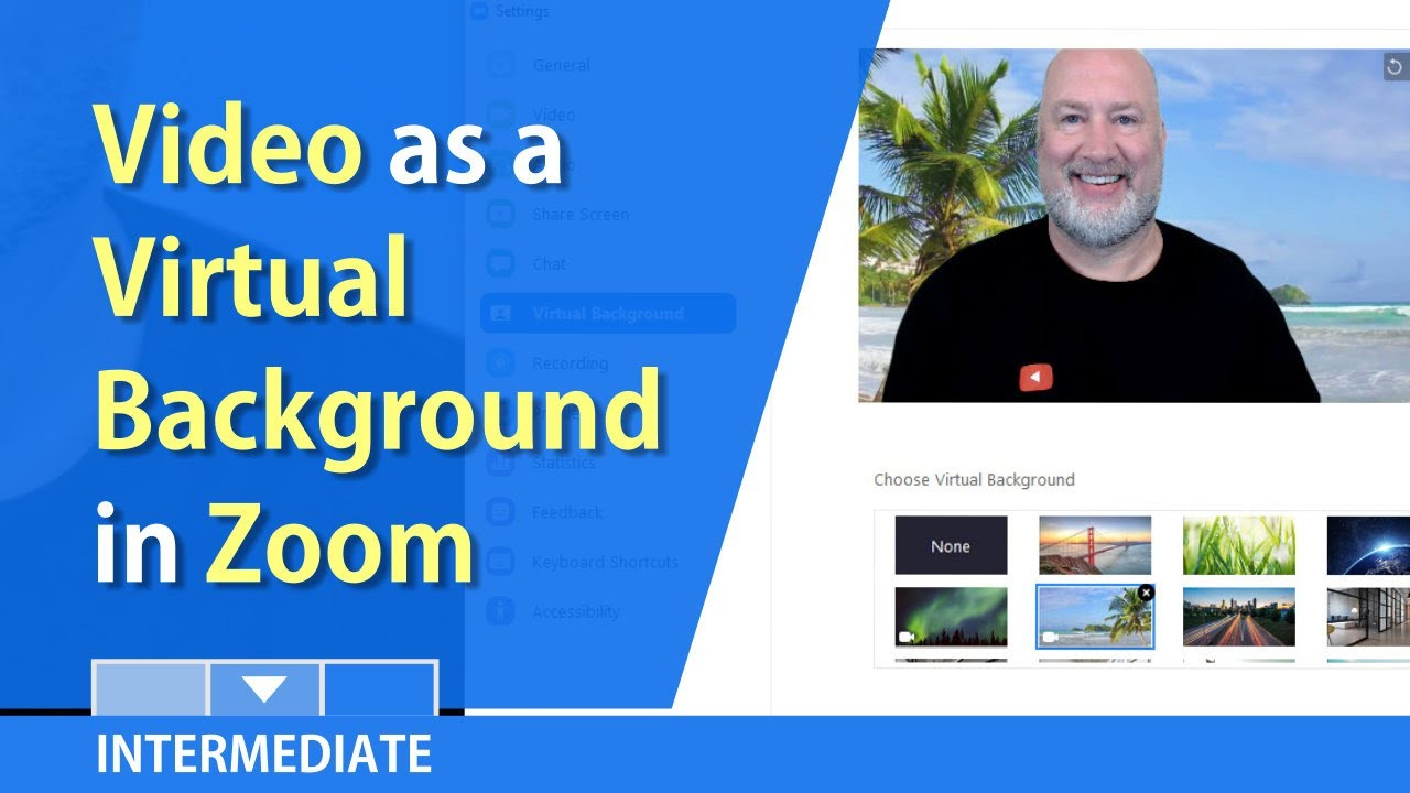 Zoom Video Video As A Virtual Background In Meetings By Chris Menard Youtube