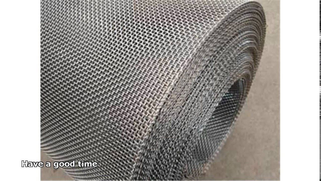 stainless steel mesh screen - YouTube