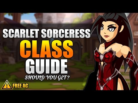 SCARLET SORCERESS CLASS GUIDE/REVIEW, Enhancements, PvP, Boss Solo AQW 2016 Adventure Quest Worlds