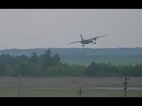 DISTURBING: Moment An-26 plane crashes during landing in Russia