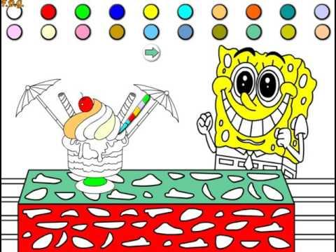 игры спанч боб квадратные штаны раскраски