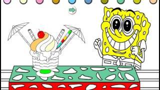 SpongeBob Fill Color (Раскраска онлайн Губка Боб)