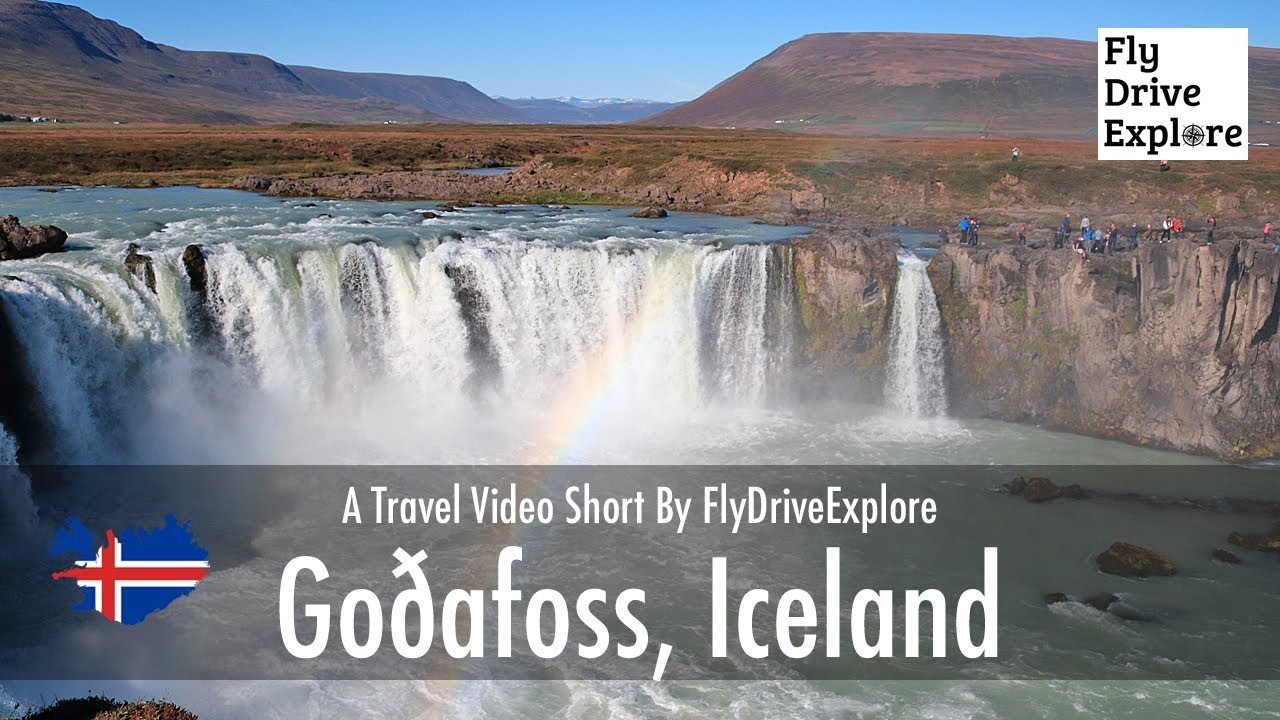 Spectacular Godafoss - The Waterfall Of The Gods, Iceland