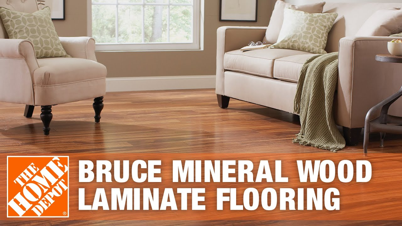 Bruce Mineral Wood Laminate Flooring  The Home Depot  YouTube