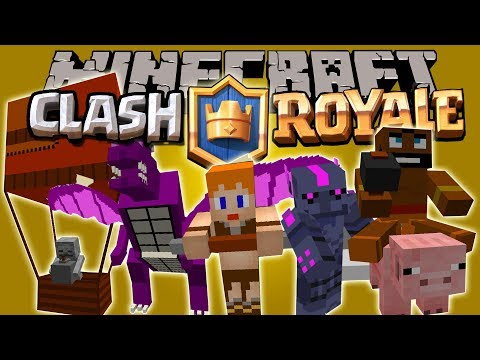 CLASH OF MOBS MOD - Clash Of clan/Royal en Minecraft - Minecraft mod 1.8 Review ESPAÑOL
