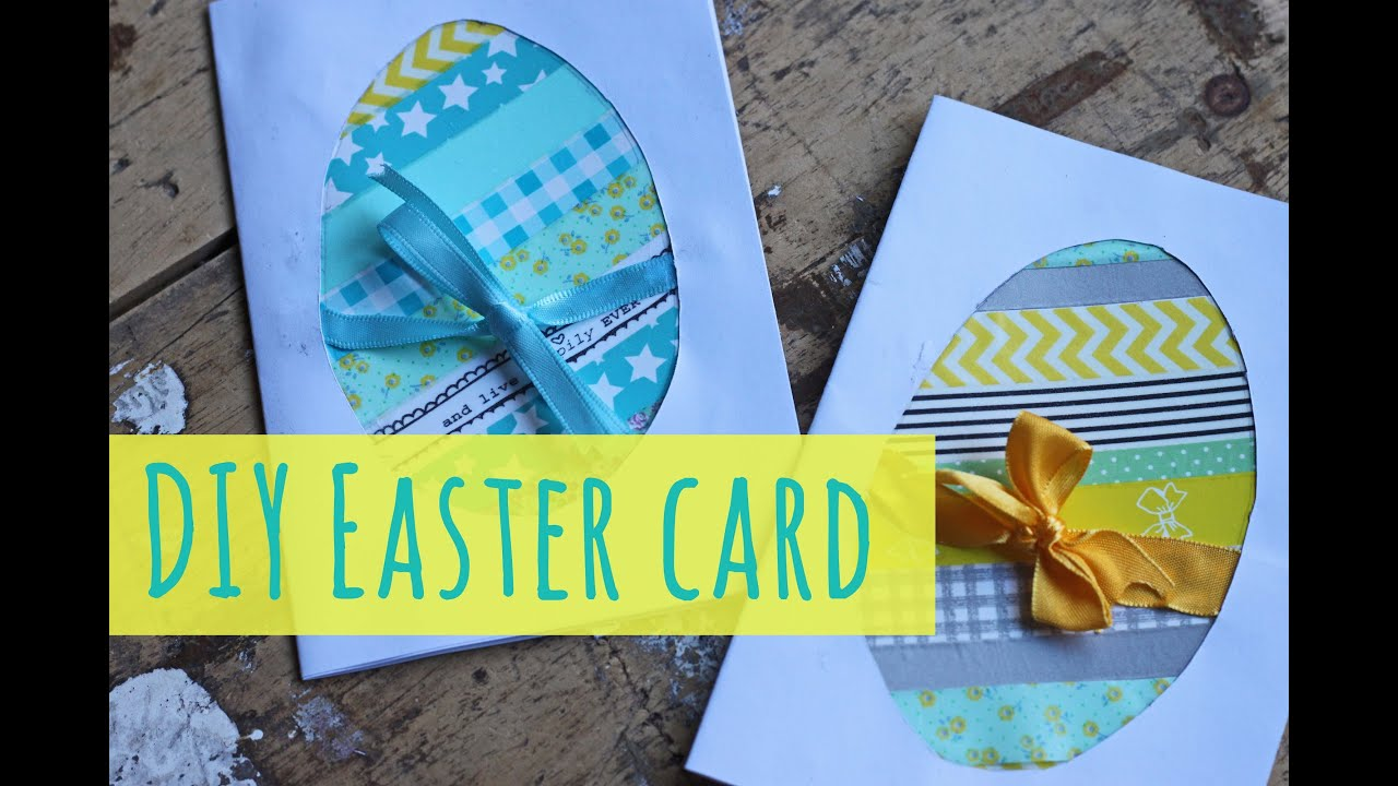 Easter Crafts Make An Easter Card Youtube