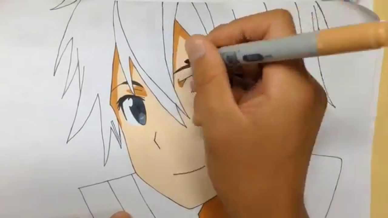 Saoのキリトをコピックで描いてみた Youtube