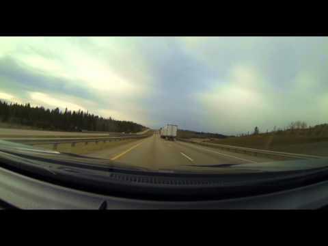 4K Highway Time Lapse Drive - Alberta