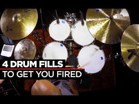 4 Crazy Fast Drum Fills | Buddy Rich & Dennis Chambers