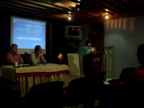 Romanian Ambassador in Colombia, Mrs. Maria Sipos - Conference: What's a disident?