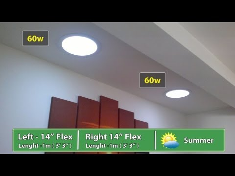 BEFORE and AFTER - Velux Sun Tunnel and Solartube Suntube Install reviews