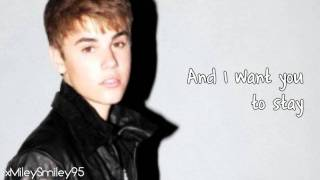 Justin Bieber - All I Want Is You (with lyrics)