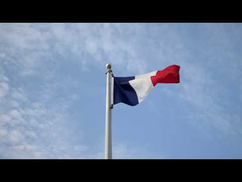 🇫🇷Flag of France Waving In The Wind 4K UHD 60 fps 10hrs 🇫🇷