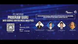 Live Streaming Peluncuran Program Baru Data Science dan Business Analytics