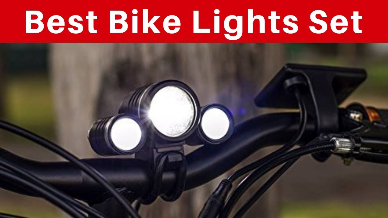 HODGSON Bike Lights 400 Lumens Bicycle Light Front and Back USB Rechargeable