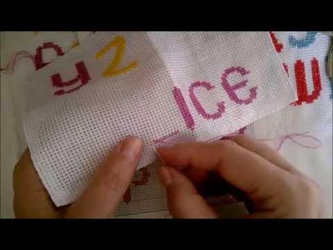 Bordando Nome - Iniciando Ponto Cruz - Alfabeto