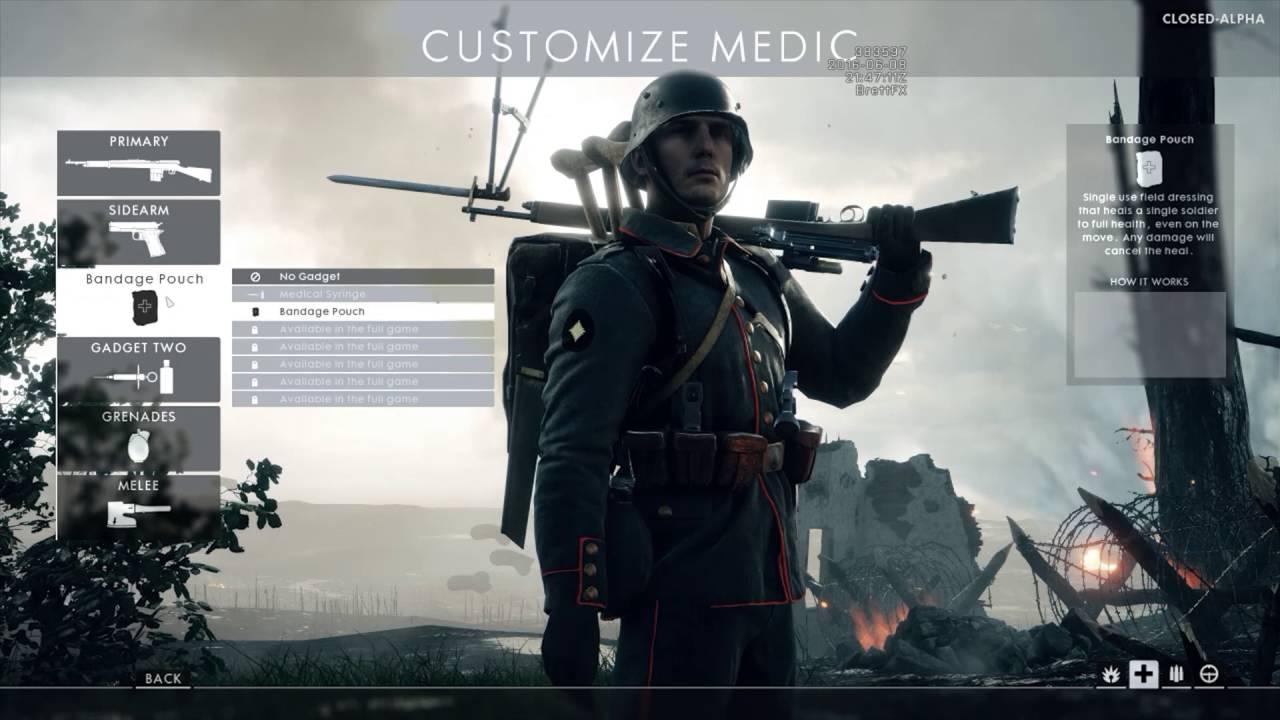 battlefield 1 class customization