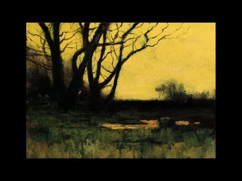 Study After: Charles Warren Eaton Autumn Meadow – Tonalist Landscape Oil Painting