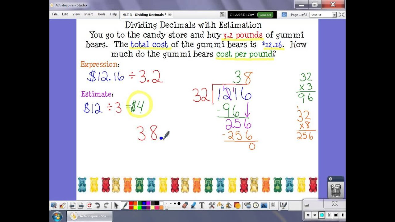 math worksheet : slt 3  dividing decimals using estimation video  youtube : Dividing Decimals Video