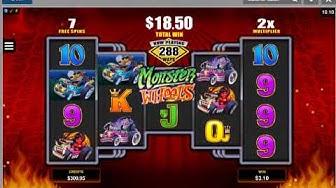 Monster Wheels Online Casino Video Slot Machine Live Play Free Spins & Amazing Bonus Payout