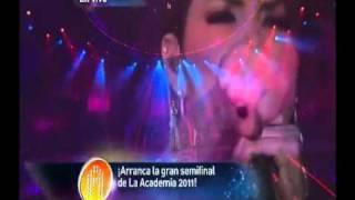 Yuridia en La Academia 2011 canta Ya te olvide 11/12/11