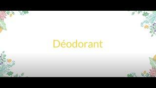 Déodorant solide bio au palmarosa