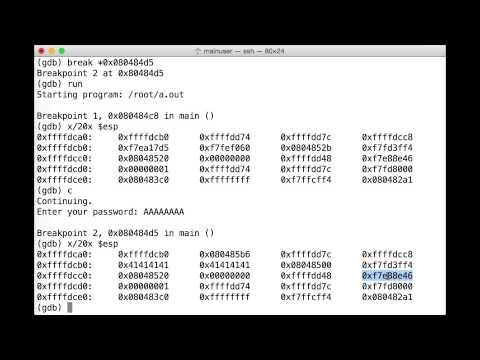 How They Hack: Buffer Overflow & GDB Analysis - James Lyne