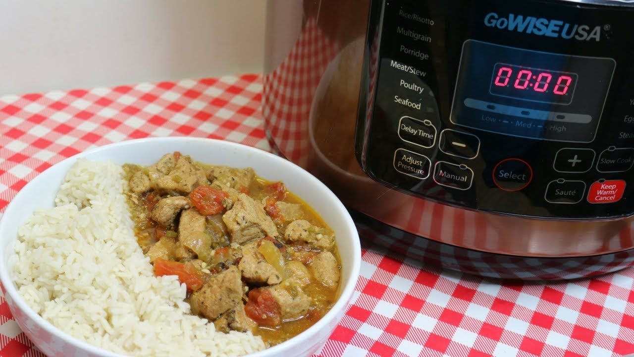Pressure Cooker Pork Green Chili Stew Featuring Gowise 10 Quart